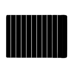 Black And White Lines Apple Ipad Mini Flip Case by Valentinaart