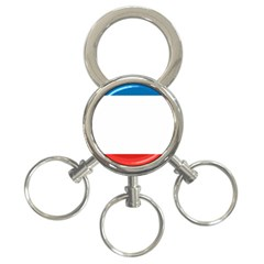 Flag Of Crimea 3 Ring Key Chains by abbeyz71