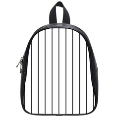White And Black Lines School Bags (small)  by Valentinaart