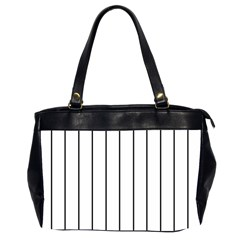 White And Black Lines Office Handbags (2 Sides)  by Valentinaart