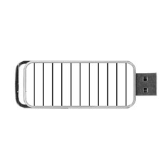 White And Black Lines Portable Usb Flash (one Side) by Valentinaart