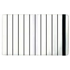 White And Black Lines Apple Ipad 3/4 Flip Case