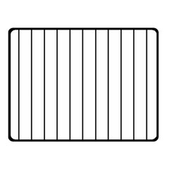 White And Black Lines Double Sided Fleece Blanket (small)