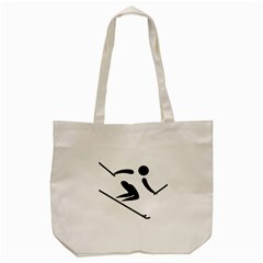 Archery Skiing Pictogram Tote Bag (cream)