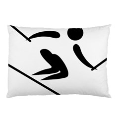 Archery Skiing Pictogram Pillow Case (two Sides) by abbeyz71