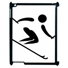 Archery Skiing Pictogram Apple Ipad 2 Case (black) by abbeyz71