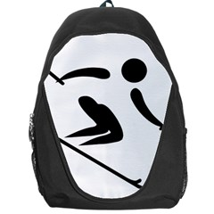 Archery Skiing Pictogram Backpack Bag by abbeyz71