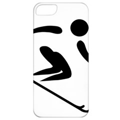 Archery Skiing Pictogram Apple Iphone 5 Classic Hardshell Case by abbeyz71