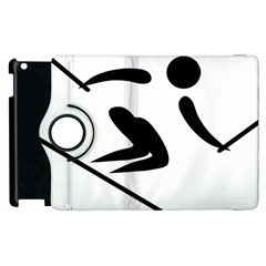 Archery Skiing Pictogram Apple Ipad 3/4 Flip 360 Case