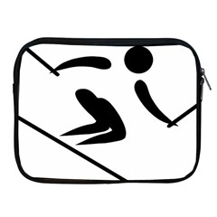 Archery Skiing Pictogram Apple Ipad 2/3/4 Zipper Cases