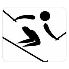 Archery Skiing Pictogram Double Sided Flano Blanket (small)  by abbeyz71