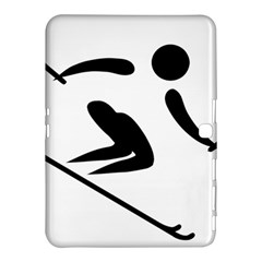 Archery Skiing Pictogram Samsung Galaxy Tab 4 (10 1 ) Hardshell Case  by abbeyz71