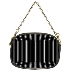 Black And White Lines Chain Purses (one Side)  by Valentinaart