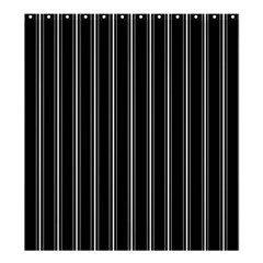 Black And White Lines Shower Curtain 66  X 72  (large)  by Valentinaart