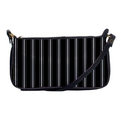 Black And White Lines Shoulder Clutch Bags
