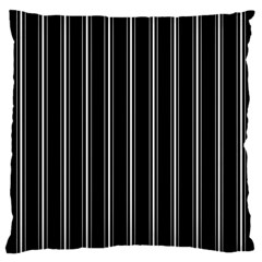 Black And White Lines Large Cushion Case (two Sides)