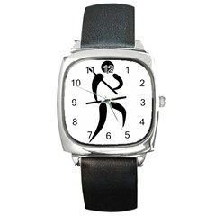 Arnis Pictogram Square Metal Watch by abbeyz71