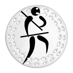 Arnis Pictogram Round Filigree Ornament (two Sides) by abbeyz71