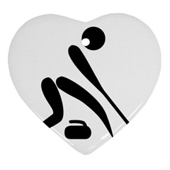 Curling Pictogram  Heart Ornament (two Sides) by abbeyz71