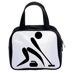 Curling Pictogram  Classic Handbags (2 Sides) by abbeyz71
