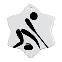 Curling Pictogram  Snowflake Ornament (two Sides) by abbeyz71