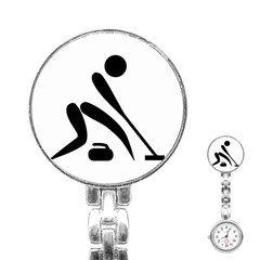 Curling Pictogram  Stainless Steel Nurses Watch by abbeyz71