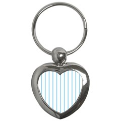 Blue Lines Key Chains (heart)  by Valentinaart