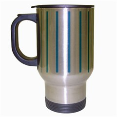 Blue Lines Travel Mug (silver Gray)