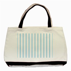 Blue Lines Basic Tote Bag (two Sides)