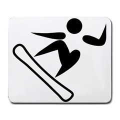 Snowboarding Pictogram  Large Mousepads by abbeyz71