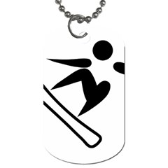 Snowboarding Pictogram  Dog Tag (two Sides) by abbeyz71