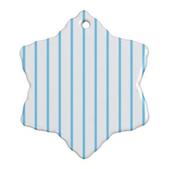 Blue Lines Snowflake Ornament (two Sides)