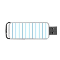 Blue Lines Portable Usb Flash (two Sides) by Valentinaart