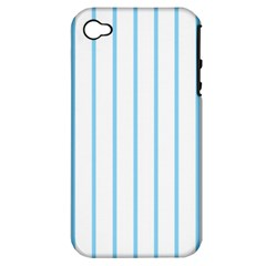 Blue Lines Apple Iphone 4/4s Hardshell Case (pc+silicone)