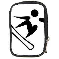 Snowboarding Pictogram  Compact Camera Cases by abbeyz71