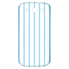 Blue Lines Samsung Galaxy S3 S Iii Classic Hardshell Back Case by Valentinaart