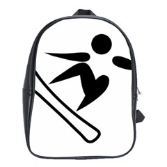 Snowboarding Pictogram  School Bags (xl)  by abbeyz71