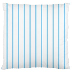Blue Lines Large Flano Cushion Case (one Side) by Valentinaart