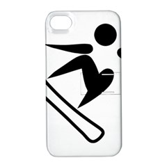Snowboarding Pictogram  Apple Iphone 4/4s Hardshell Case With Stand