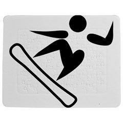 Snowboarding Pictogram  Jigsaw Puzzle Photo Stand (rectangular) by abbeyz71