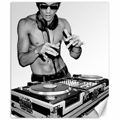 Bruce Lee Dj Canvas 20  X 24   by offbeatzombie