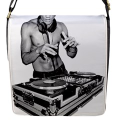 Bruce Lee Dj Flap Messenger Bag (s) by offbeatzombie