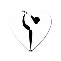 Artistic Roller Skating Pictogram Heart Magnet by abbeyz71