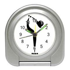 Artistic Roller Skating Pictogram Travel Alarm Clocks by abbeyz71