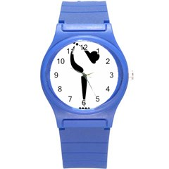 Artistic Roller Skating Pictogram Round Plastic Sport Watch (s) by abbeyz71