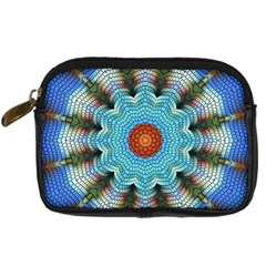 Pattern Blue Brown Background Digital Camera Cases