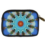 Pattern Blue Brown Background Digital Camera Cases Back
