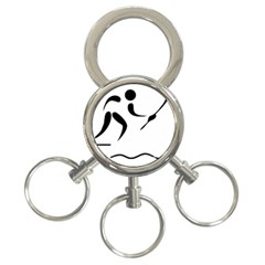 Assault Course Pictogram 3 Ring Key Chains by abbeyz71