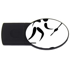 Assault Course Pictogram Usb Flash Drive Oval (2 Gb) by abbeyz71