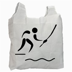 Assault Course Pictogram Recycle Bag (one Side)